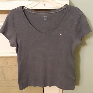 Tommy Hilfiger Stretch Gray Top Sz L